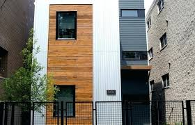 exterior ideas medium size stainless steel siding houses with galvanized mid century corrugated metal balcony for