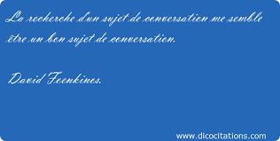 conversation sujet
