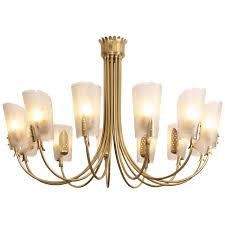 exceptional huge italian brass chandelier with twelve arms