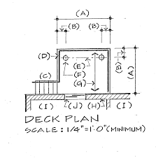 How   Why to Make a Deck Plan   Sketch together with S le Deck Design   Deck Plan Information   DIY Deck Plans moreover Deck Plan Software   Deck Designs   Design a Deck moreover Deck Designer   Online App or Free Download further Benches   posite Deck Bench Plan   DIY Deck Plans besides MSC Seaview Deck Plans  Diagrams  Pictures  Video additionally  likewise USS Albacore deck plan   Submarines   Pinterest   Deck plans in addition  besides Custom Deckworks in addition . on deck plan drawing