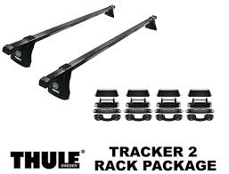 thule tracker 2 permanent mount car roof rack package 430 foot pack load bars view larger image