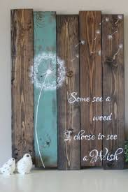 some see a weed dandelion wall art rustic home decor