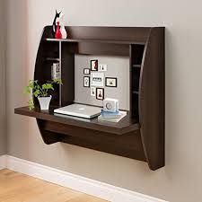 wall mounted office desk. Erfect Wall Mounted Computer Desk Floating With Storage Office Shelf (Brown)