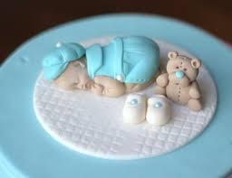 Baby Shower Cake Topper Fondant Baby Boy Christening Baptism Etsy
