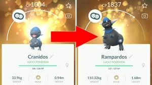 Evolving Cranidos Into Rampardos Pokemon Go Gen 4 Evolution