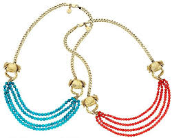 tv jewelry. gold and turquoise karen walker double crab necklace tv jewelry n