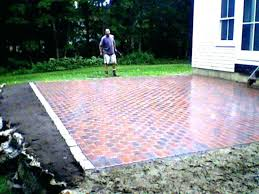 cost of patios brick patio ls how much does it to do per square foot pavers