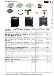 david brown contents page sparex parts lists diagrams s 70349 david brown db01 7