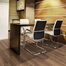 Basement Flooring Ideas: Wood Look Porcelain Tile In Planks