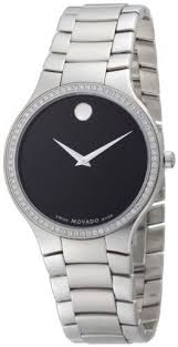 movado men s 0606384 serio stainless steel and diamond black round movado men s 0606384 serio stainless steel and diamond black round dial watch movado