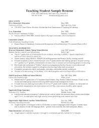 Student Teacher Resume Samples Resume For Study