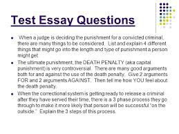 criminal justice process sentencing and corrections ppt video  test essay questions