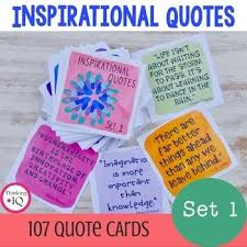 Inspirational Quote Cards For Students Watercolor Collection TpT Awesome Quote Cards