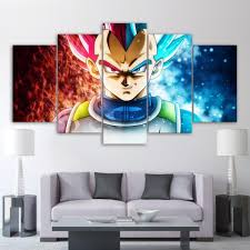 5 piece canvas wall art anime