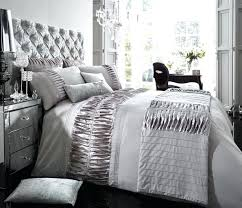 decorative silver comforter set queen
