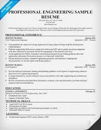 Professional Engineer Resume Outathyme Com