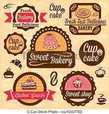 Bakery Goods Labels Elegant Vector Bakery Labels And Badges Set