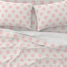 pink dots sheets polka dot pale pink by