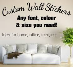 Small Picture personalised Wall Sticker Custom Vinyl Decals