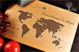 personalised cutting board. Fine Cutting World Map U2013 Personalised Chopping Board Throughout Cutting M