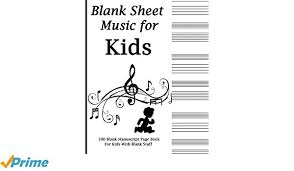 blank sheet music book blank sheet music for kids black and white music notes music