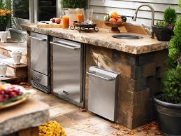 wood patio ideas on a budget. Outdoor Kitchen Ideas On A Budget Rectangular White Ceramic Tile Flooring Bar Stool Design Modern In Small Garden Black Wood Patio .
