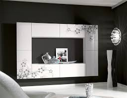 Small Picture Unico Contemporary Wall Storage System in White with Floral Details