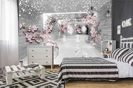 Schlafzimmer Tapete Rosa Mädchen Schlafzimmer Schmetterling Tapete