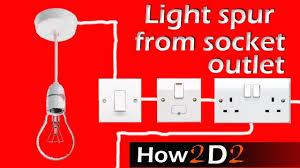 light spur from socket for lighting off ring main wiring inside how wiring diagram for ring main lighting at Wiring Diagram For Ring Main