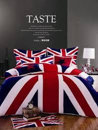 red bedding set 4pcs 100 cotton duvet covers bed linen sheets pillow cases fast british flag bed linen sets 100 cotton
