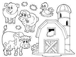 Coloring Pages Inspiring Farm Animalring Pages For Preschoolers