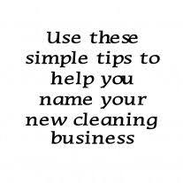 Tips On Naming Your Cleaning Business Cleaning Business