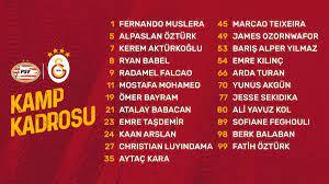 Galatasaray'ın PSV maçı kadrosu belli oldu