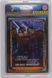 Skybox Vending Machine Inserts Classy Star Trek Stickers Star Trek Card Collective