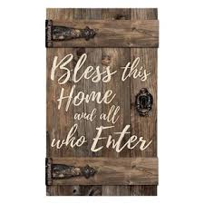 barn door bless this home and all who enter wall décor