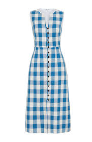 Image result for BLUE IVORY PLAID GOWN