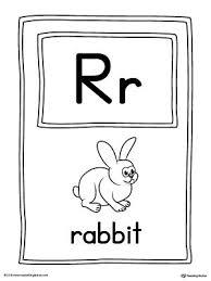 Custom Letter Art Template Simple Letter R Large Alphabet Picture Card Printable MyTeachingStation