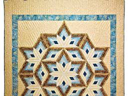 Diamond Star Quilt -- gorgeous well made Amish Quilts from ... & ... Pastel Blue and Gold Diamond Star Log Cabin Quilt Photo 2 ... Adamdwight.com
