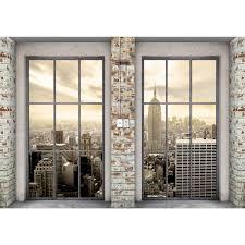 Fenster Nach New York Vlies Foto Wandtapete Xxl Dekoration Runa 9345cp