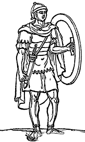 Ancient Rome Roman Soldier With Shield