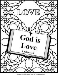 Small Picture Unit 3 God is love coloring page Homeschool Beyond Little
