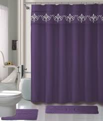 purple and silver shower curtain. Purple Shower Curtain Set 4 Piece With Rugs And Rings 0041 Silver