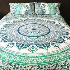 bohemian quilt pattern tapestry bedding fadfay look hippie quilts bedroom fascinating with unique decoration motive