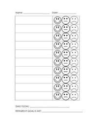 Smiley Face Behavior Chart Printable 12 Methodical Sample Behavior Chart For Teachers