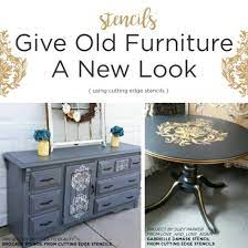 stencils give old furniture a new look