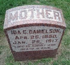 Ida C. Swanson Danielson (1850-1917) - Find A Grave Memorial