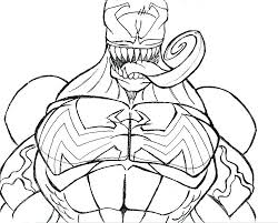 Venom Coloring Pages Venom Coloring Pages Awesome Free The Flash For