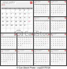 Simple Calendar Template 2015 Calendar 2015 Vector Desing Template