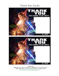 Free Star Wars The Force Awakens Invitation Thank You