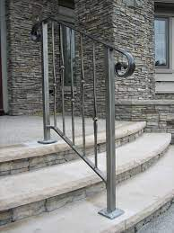 Stair railings are a necessary part of the architecture of your home if you have stairs. Exterior Steel Railing By Old Dutchman S Wrought Iron In Getzville New York Railings Outdoor Wrought Iron Stair Railing Outdoor Stair Railing